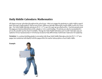 Daily Riddle Calendar subtraction