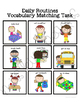 Daily Rountines Vocabulary Folder Game for students with Autism