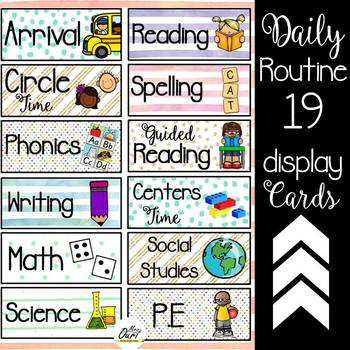 Daily Routine Cards (editable)
