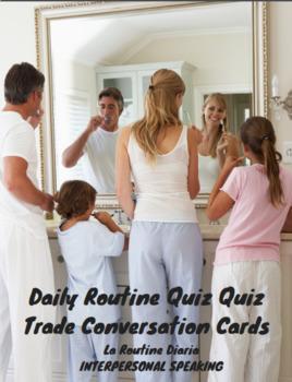 Daily Routine (rutina diaria) Conversation Cards (quiz-qui