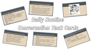 Daily Routine Conversation Task Cards