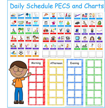 Daily Routine Picture Schedules (with PECS)