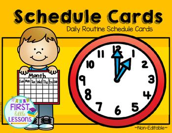Daily Routine Schedule Cards: OrangeYellow
