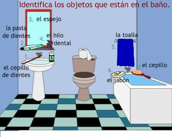 Daily Routine Spanish SMART Board Lesson