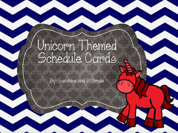 Daily Schedule Cards Fairy Tale/Unicorn Theme