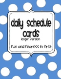 Daily Schedule Cards, Large