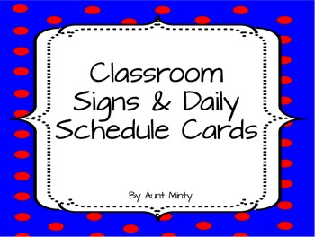 Daily Schedule Cards-Master Schedule Cards-Dot Background