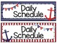 Daily Schedule Cards {Nautical Theme}