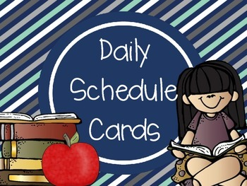 Daily Schedule Cards-Navy
