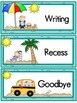 Ocean and Beach Theme Daily Schedule Cards