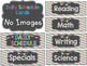 Daily Schedule Cards in Chalkboard, Turquoise, Lime Green,