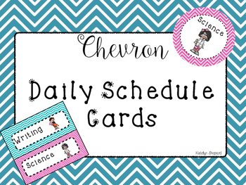 Classroom Daily Schedule Cards