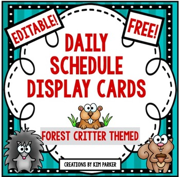 Daily Schedule Display Cards- Forest Critter Theme