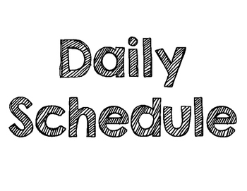 Daily Schedule Heading