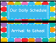 Daily Schedules / Hall Passes Blue Dots