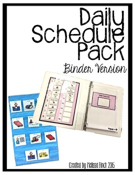 Daily Schedule Pack (individualized binder version)- Autis