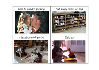 Back to School Daily Routine Picture Cards (Montessori / c