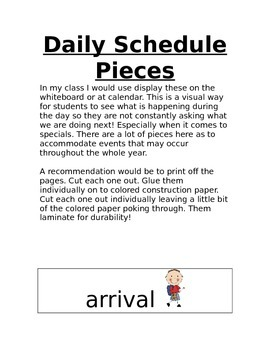 Daily Schedule Pieces
