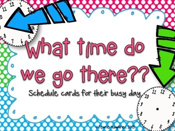 Daily Schedule Cards Polka Dot