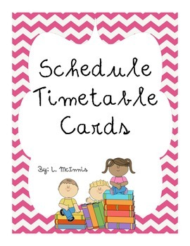 Daily Schedule Timetable visual cards for Primary