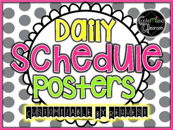 Bulletin Board Daily Schedule Posters