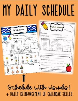 Daily Schedule and Calendar Worksheet for Students with Au