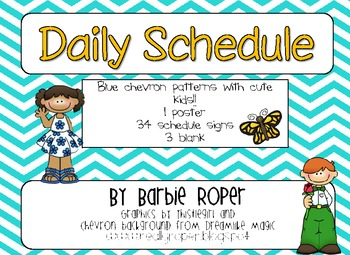 Daily Schedule with Blue Chevron