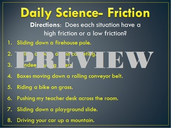 Daily Science- Forces- Friction