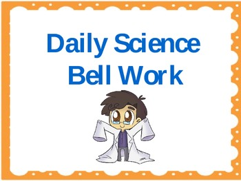 Daily Science Walk In Bell Work 3