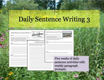 Daily Sentence Writing 3