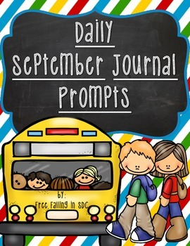 Daily September Journal Prompts (differentiated writing prompts)