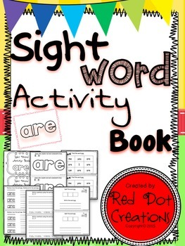 """Daily Sight Word Activity Book """"are"""""""