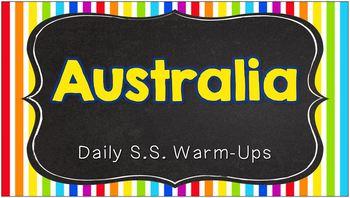Daily Social Studies Warm-Ups (or Study Guide) -- Australia