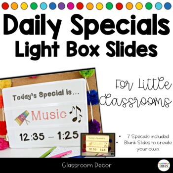 Light Box Slides for Daily Specials {editable}