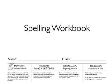 Daily Spelling Workbook