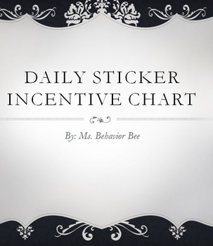 Behavior Tracking - Daily Sticker Incentive Chart