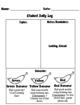 Daily Student Log  **EDITABLE**