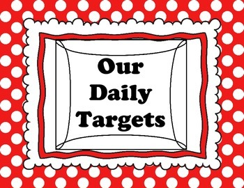 Daily Targets (I Can statements) and PA Core Standards pol