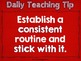 Daily Teaching Tips {The First 100}