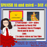 Spanish 1 Day 4  usted and tú Lesson Spanish Greetings