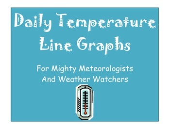 Daily Temperature Line Graph Set