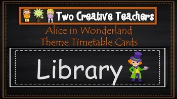 Daily Timetable Cards Alice in Wonderland Theme