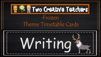 Daily Timetable Cards Frozen Theme