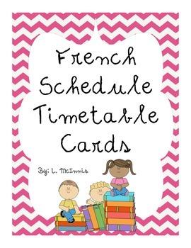 Daily Visual Timetable Schedule cards (Horaire du jour) Pr