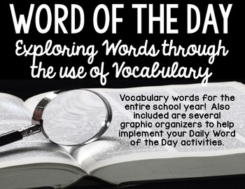 Daily Vocabulary Word Work Word of the Day