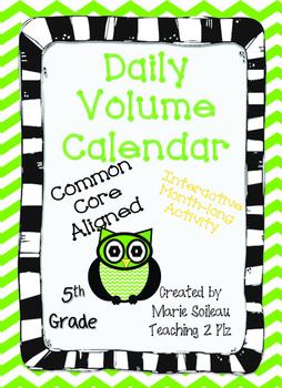 Daily Volume Calendar