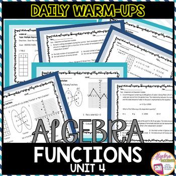 Algebra Warm-Ups: Functions