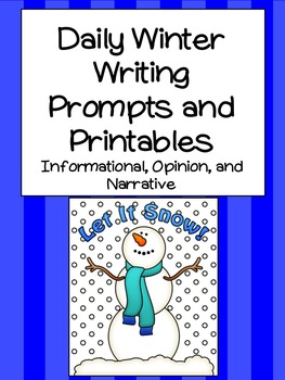 Daily Winter Writing Prompts and Printables