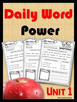 Daily Word Power Unit 1 (vocabulary practice)