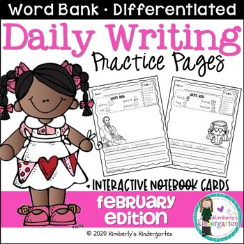 Daily Writing Journal Pages for Beginning Writers: Februar